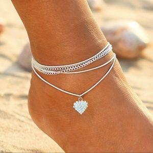 Diamond Love anklet